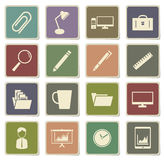 Office simply icons. Office vector icons for web sites and user interface Royalty Free Stock Image