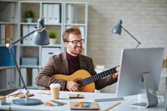 Office singer Royalty Free Stock Photos