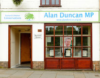 Office of Sir Alan Duncan MP - Conservative Party. Stock Images