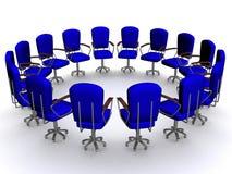 Office sixteen armchairs Stock Image