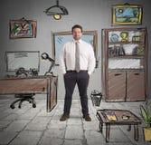Office sketch vector illustration