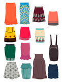 Office skirts. Set of office skirts isolated on white background Royalty Free Stock Photos