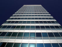 Office skyscraper In London's Docklands. Office skyscraper in Canary Wharf in London's Docklands Stock Images