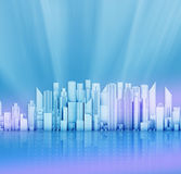 Office skyscrapers on an abstract background Royalty Free Stock Images