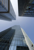 Office skyscrapers upward view Stock Photography