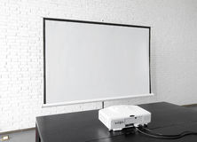 Office slide projection screen. Eastphoto, tukuchina, Office slide projection screen Royalty Free Stock Photo