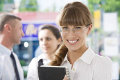 Office smile Royalty Free Stock Photos