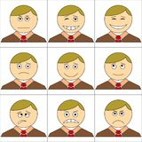 Office smilies, set Royalty Free Stock Images