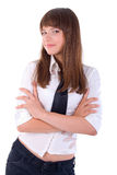 Office Smiling Girl Portrait. Royalty Free Stock Photography