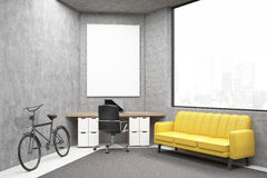 Office with a sofa Stock Images