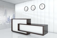 Office space as reception 3d rendering interior Royalty Free Stock Photo