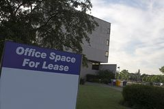 Office space for lease sign Royalty Free Stock Images