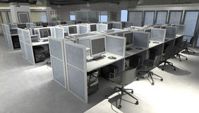 Office space. Modern office open space interior, high resolution 3d render Stock Photography
