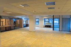 Office space renovation. Office space undergoing renovation and improvement Stock Photo