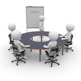 Office space situation. An office space situation for presentation, teamwork and collaboration Stock Images