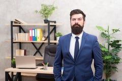 Office staff. HR director. HR management. HR job description. Head of human resources department. Man bearded serious stock photography