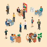 Working day at the office. Stock Illustration