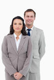 Office staff standing together Stock Images