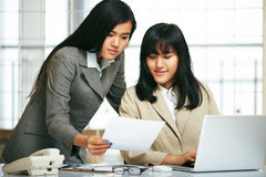 Office staffs working in the office Stock Photography