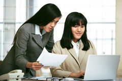 Office staffs working in the office Stock Image
