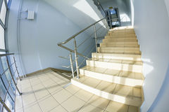 Office staircase (fisheye snapshot) Royalty Free Stock Photography