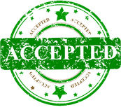 Office stamp with the word ACCEPTED stock illustration