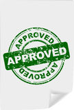 Office stamp with the word approved Royalty Free Stock Image