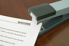 Office Stapler And Document Royalty Free Stock Photo