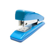 Office stapler. Blue stapler isolated on white background Royalty Free Stock Image