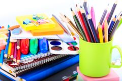 Office stationary. Back to school concept Royalty Free Stock Images