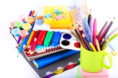 Office stationary. Back to school concept Stock Photos