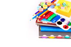 Office stationary. Back to school concept Stock Photography