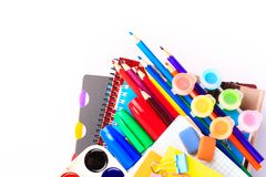 Office stationary. Back to school concept Royalty Free Stock Photo