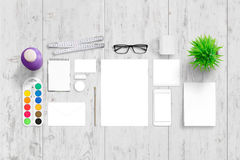 Office stationery for corporate branding royalty free stock photos