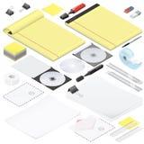 Office stationery detailed isometric icon set Stock Photo