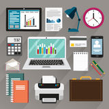 Office stationery and equipment Royalty Free Stock Photography