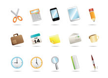 Office stationery icons Stock Image