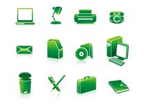 Office stationery icons Stock Images