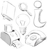 Office stationery objects collection Stock Photography