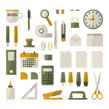 Office stationery set Royalty Free Stock Photos