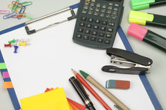 Office stationery. Some office stationery close up royalty free stock image