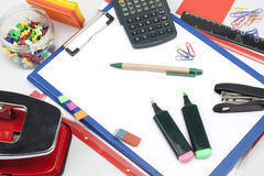 Office stationery. Some office stationery close up royalty free stock photos