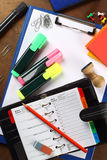 Office stationery. Some office stationery close up royalty free stock photo