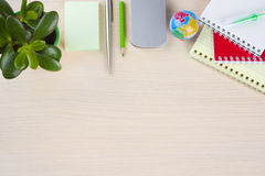 Office stationery supplies on table Stock Photos