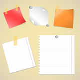 Office sticker set vector Royalty Free Stock Photos