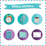 Office stickers Stock Image