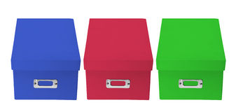 Office Storage Boxes Royalty Free Stock Photo