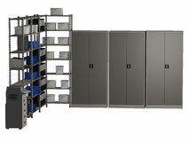 Office Storage Racks and Cabinets Royalty Free Stock Photos