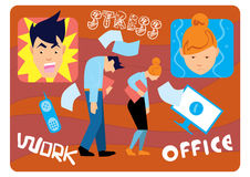 Office stress work. Royalty Free Stock Photos