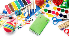 Office and student accessories. Back to school. Stock Images